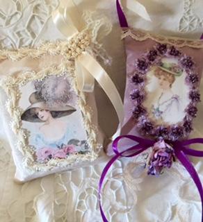 G-Victorian Sachets Ecru/Purple