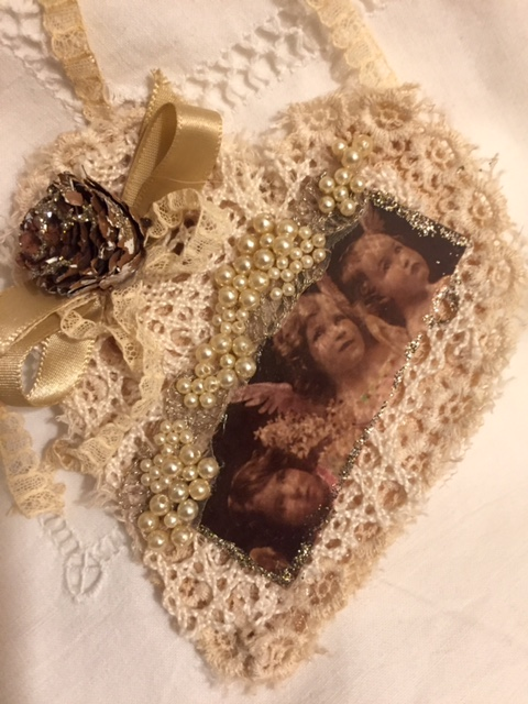Christmas Angel Heart Ornament