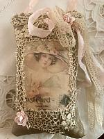 Lavender Sachet w/ Antique Lace