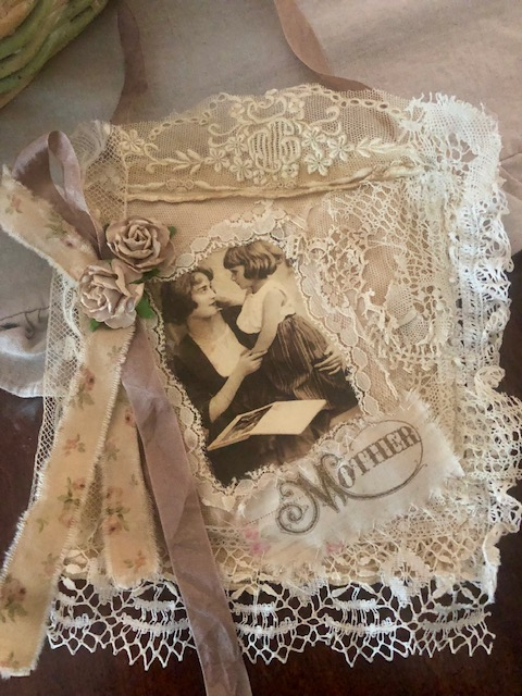 Antique Lace Collage/Mother-Child