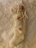 Antique  Ecru Christmas Stocking