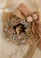 Muslin Antique Lace Sachet!