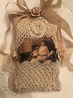 Antique Lace Lavender Sachet-Mother/Child!