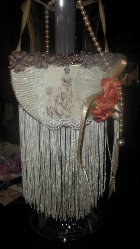 Victorian Bridal Sachet w/Flower