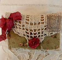 Antique Embroidered Lace Sachet
