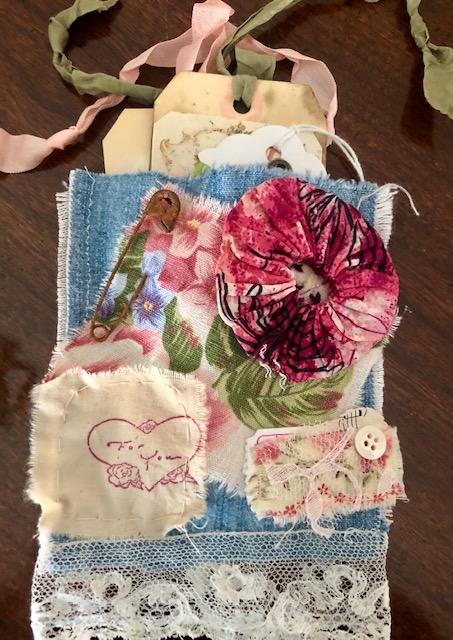 Floral Junk Journal Pocket!