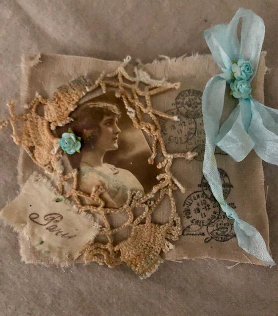 French Linen Fabric Sachet/Gift Topper/Gift/Room Decor