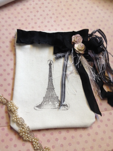 Canvas French Theme Gift Bag